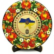 """Тарель """"Коллаж гербы областей Украины"""""""