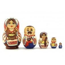 """Матрешка """"Украинская семья"""" 8,5 см"""